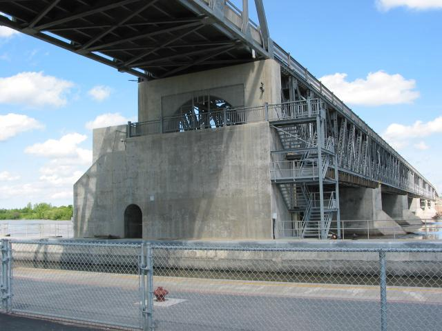 Lockport Bridge & Office, Manitoba, Canada
